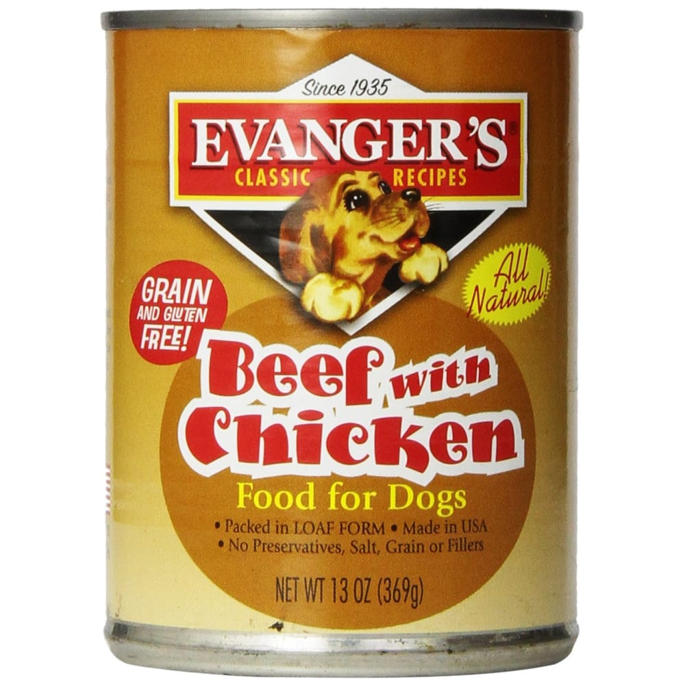Evanger's - Classic Beef With Chicken Grain-Free Canned Dog Food