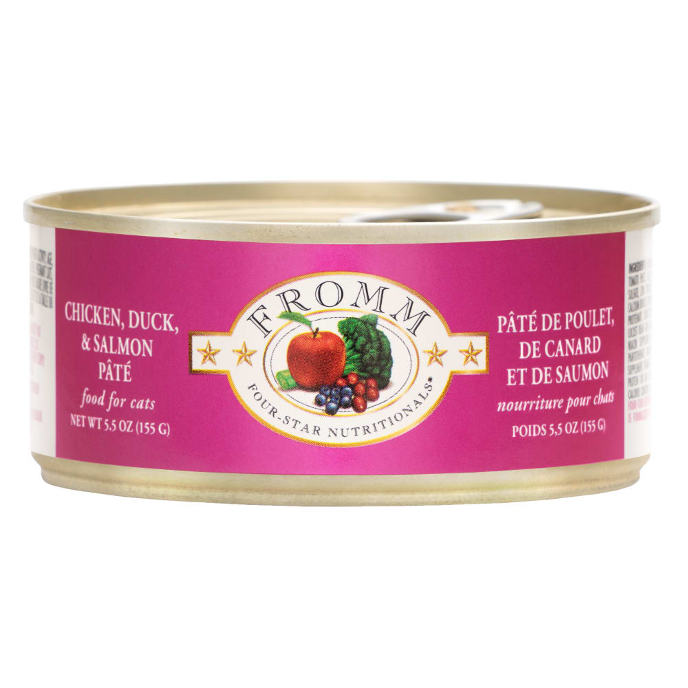 Fromm - Four Star Chicken, Duck, And Salmon Pate Canned Cat Food, 5.5oz