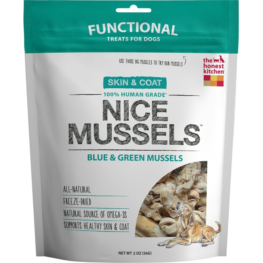 Honest Kitchen - Nice Mussels Blue & Green Freeze-Dried Mussels, 2oz
