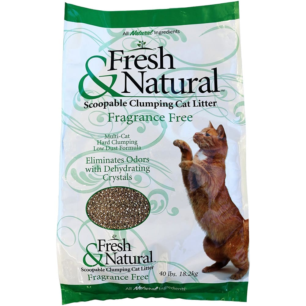 Fresh & Natural - Scoopable Clumping Cat Litter (Fragrance Free), 40lbs