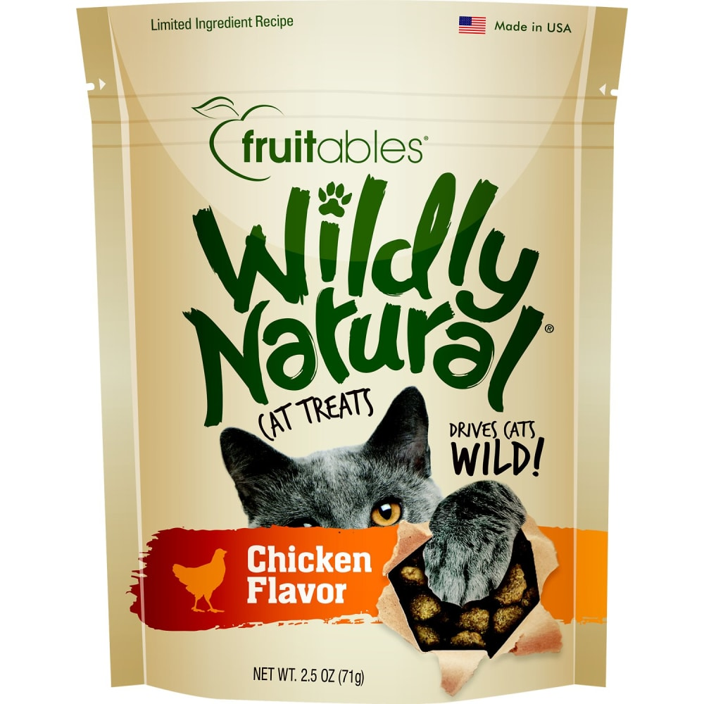 Fruitables - Wildly Natural Free Range Chicken Cat Treats, 2.5oz