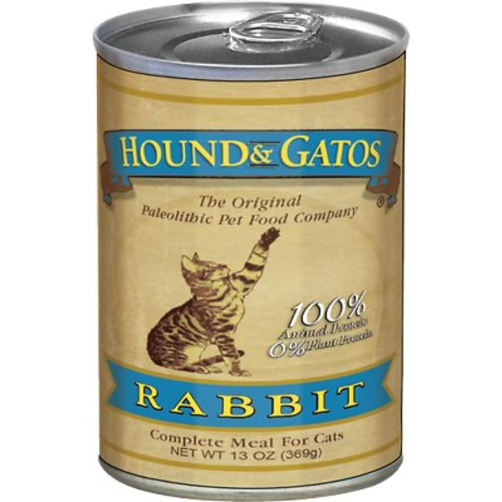 Hound & Gatos - Rabbit Formula Canned Cat Food, 13oz