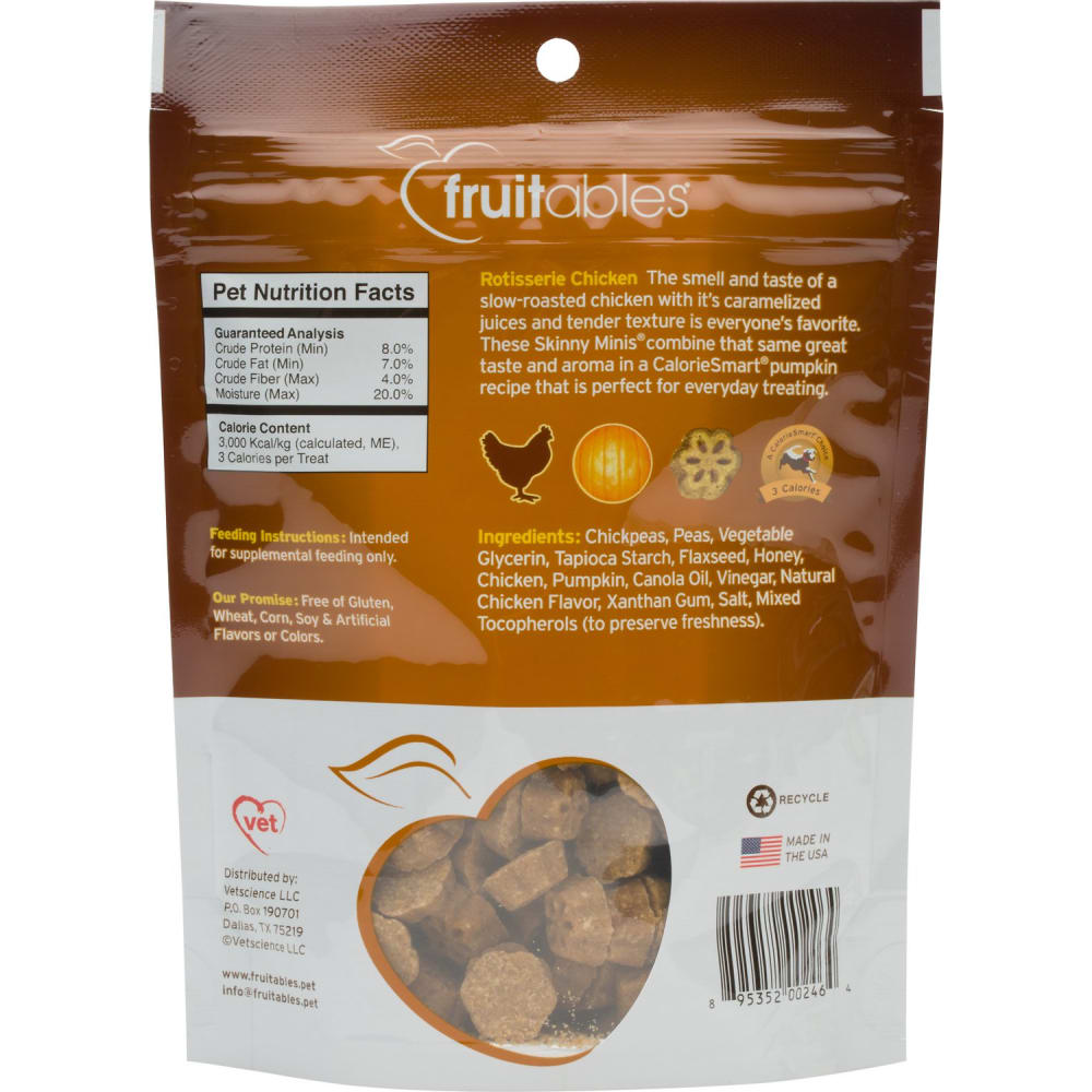 Fruitables - Skinny Minis Chicken Soft & Chewy Dog Treats, 5oz