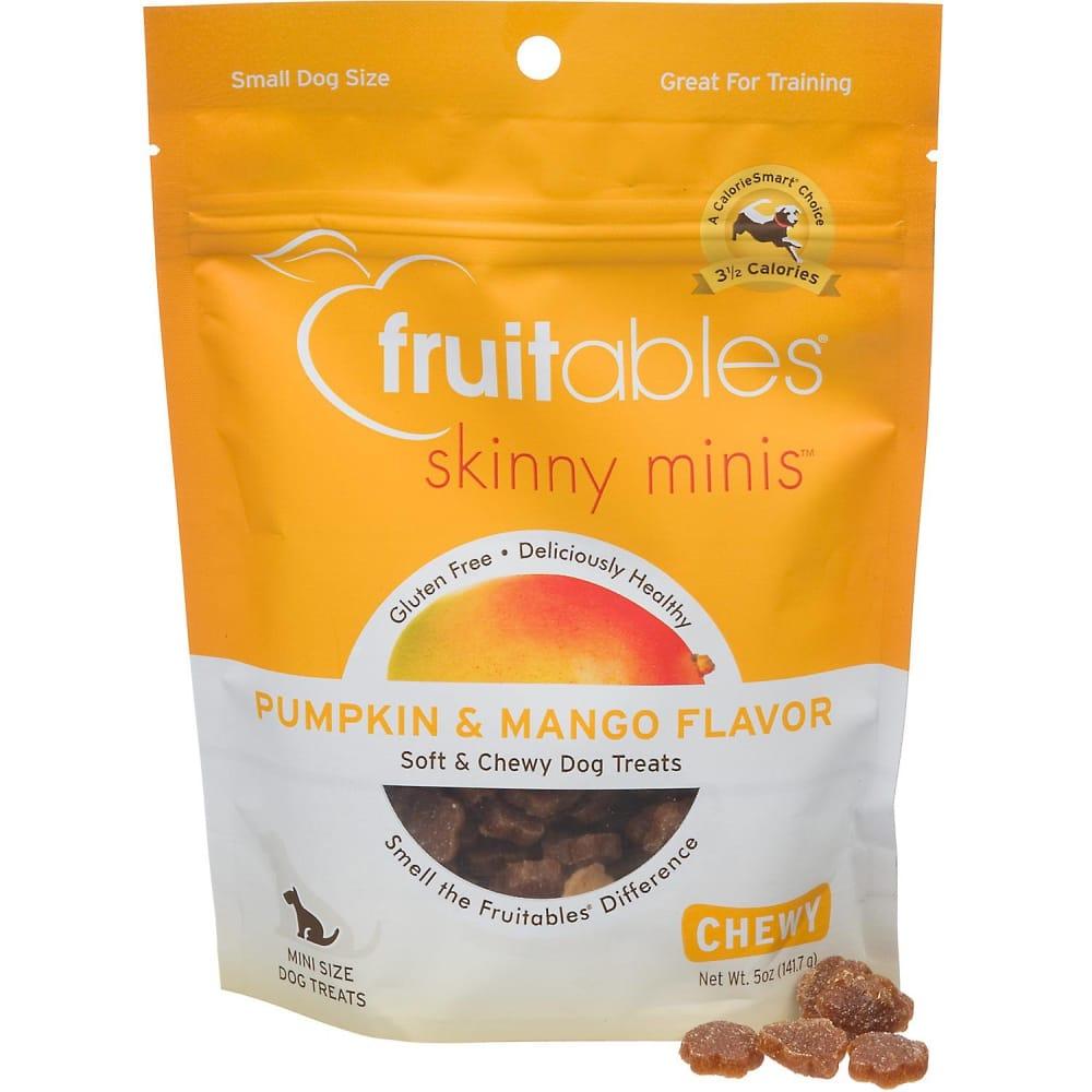 Fruitables Skinny Minis Pumpkin Mango Flavor Soft Chewy Dog Trea
