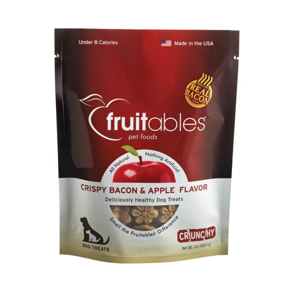 Fruitables - Crispy Bacon & Apple Flavor Dog Treats, 7oz
