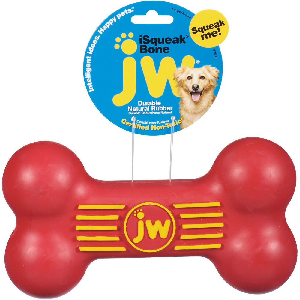 JW - ISqueak Bone Rubber Dog Toy