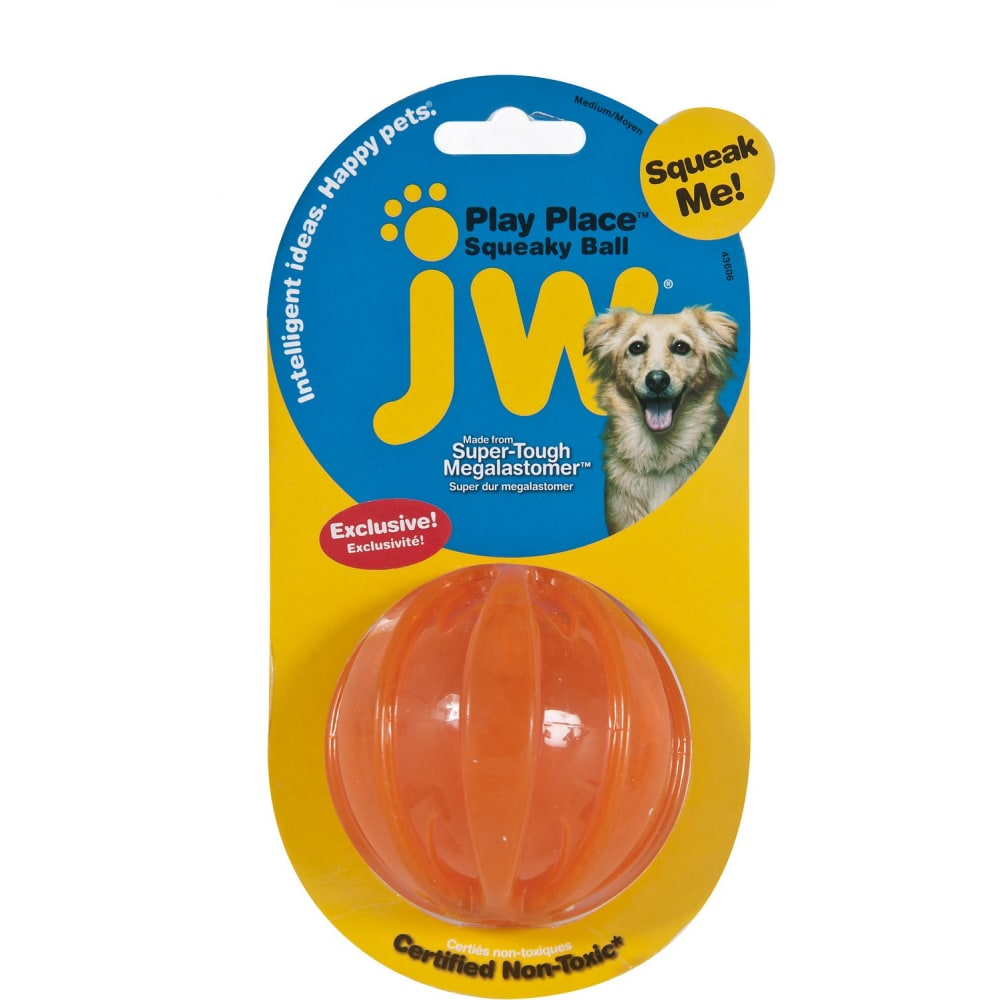 JW - Play Place Squeaky Dog Ball, Medium