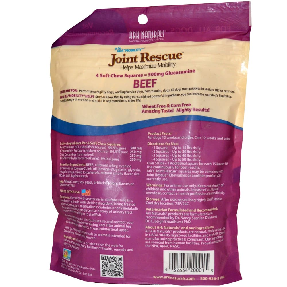 Ark Naturals - Sea Mobility Joint Rescue Beef Dog Treats, 9oz