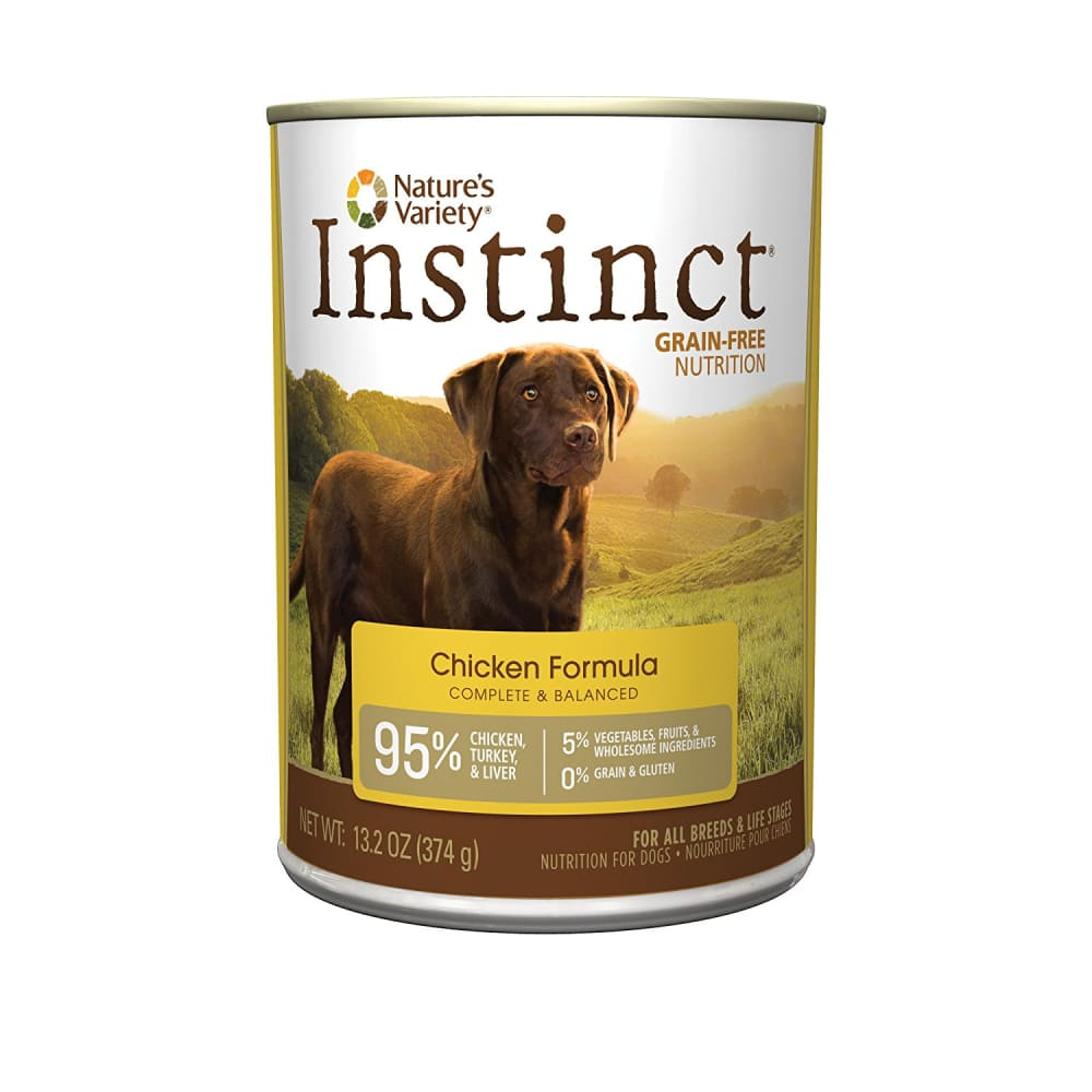 Nature's Variety - Instinct Grain-Free Chicken Formula Canned Dog Food, 13.2oz