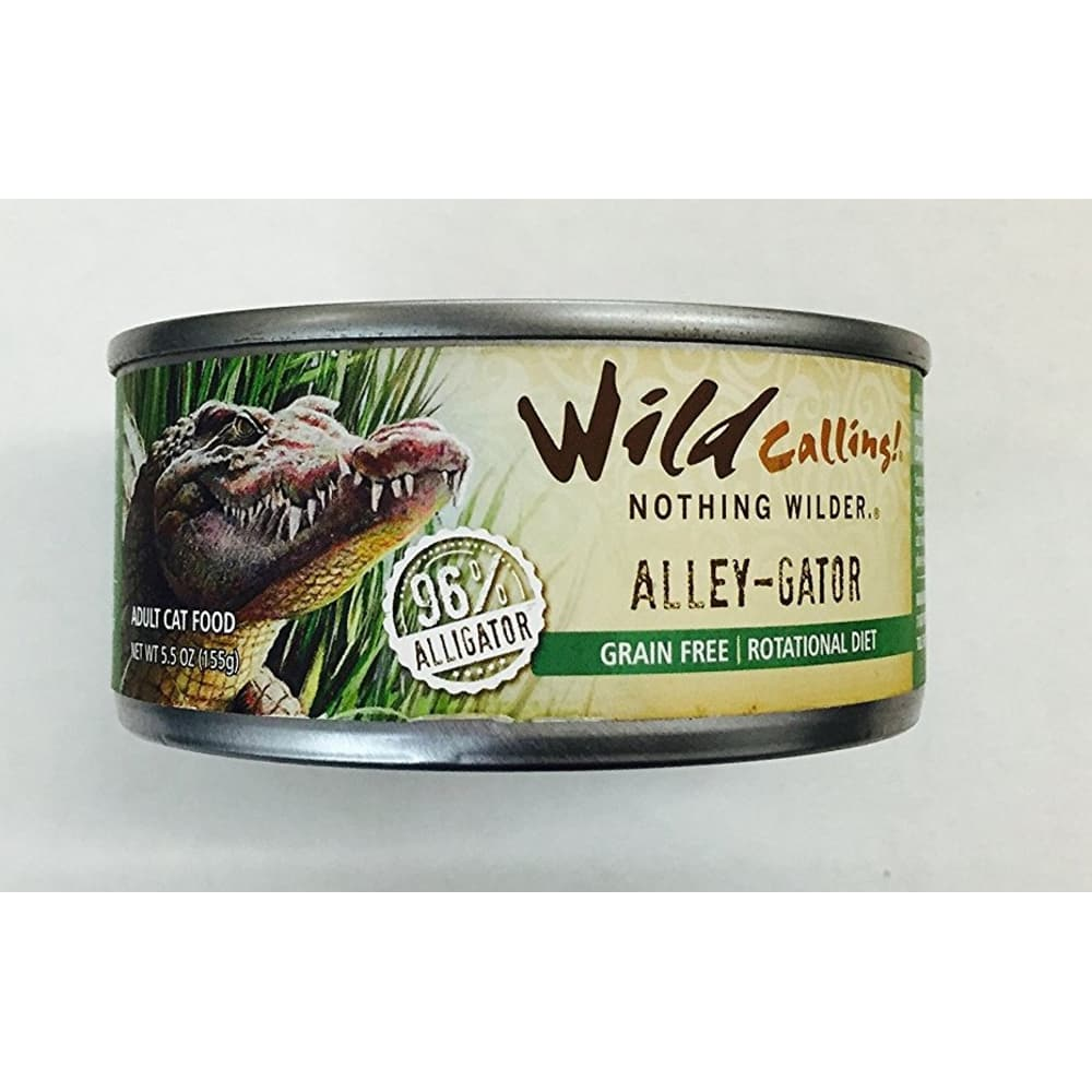Wild Calling - Alley-Gator 96% Alligator Canned Cat Food, 5.5oz