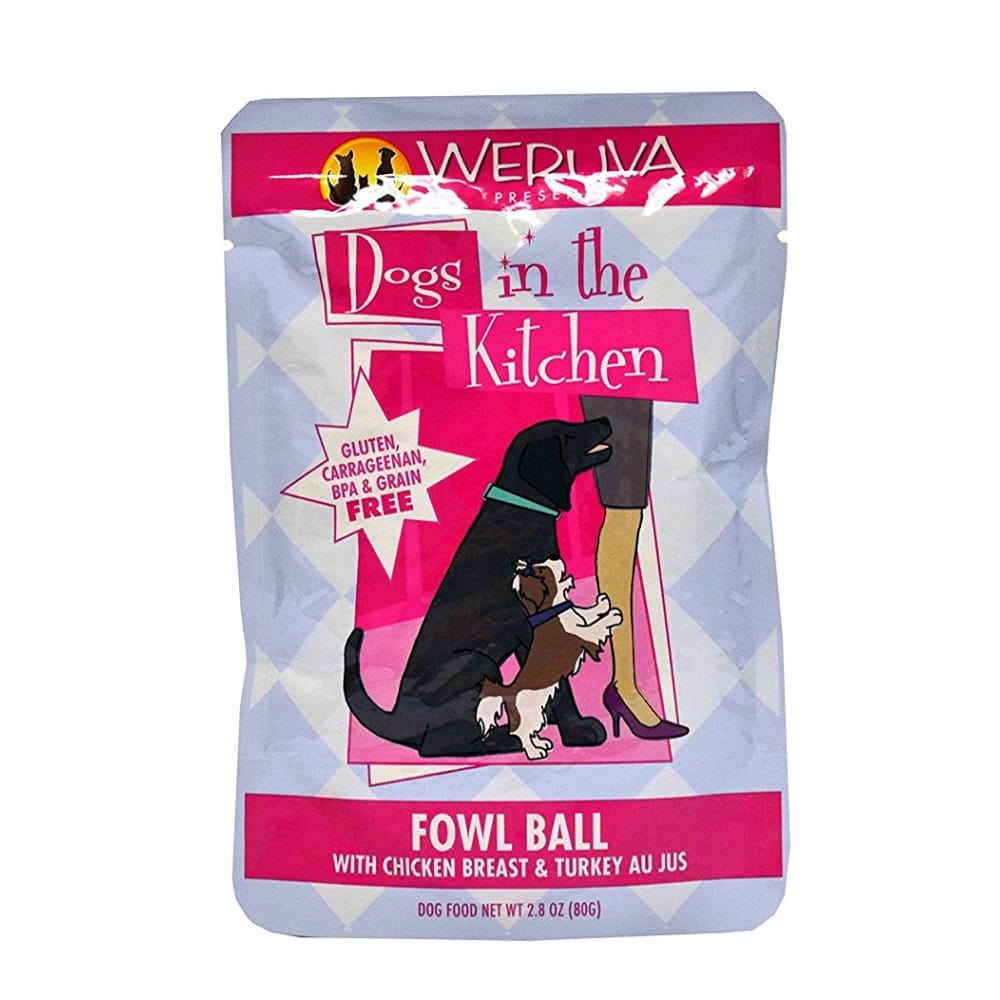 Weruva - Grain-Free Fowl Ball Dog Food Pouch