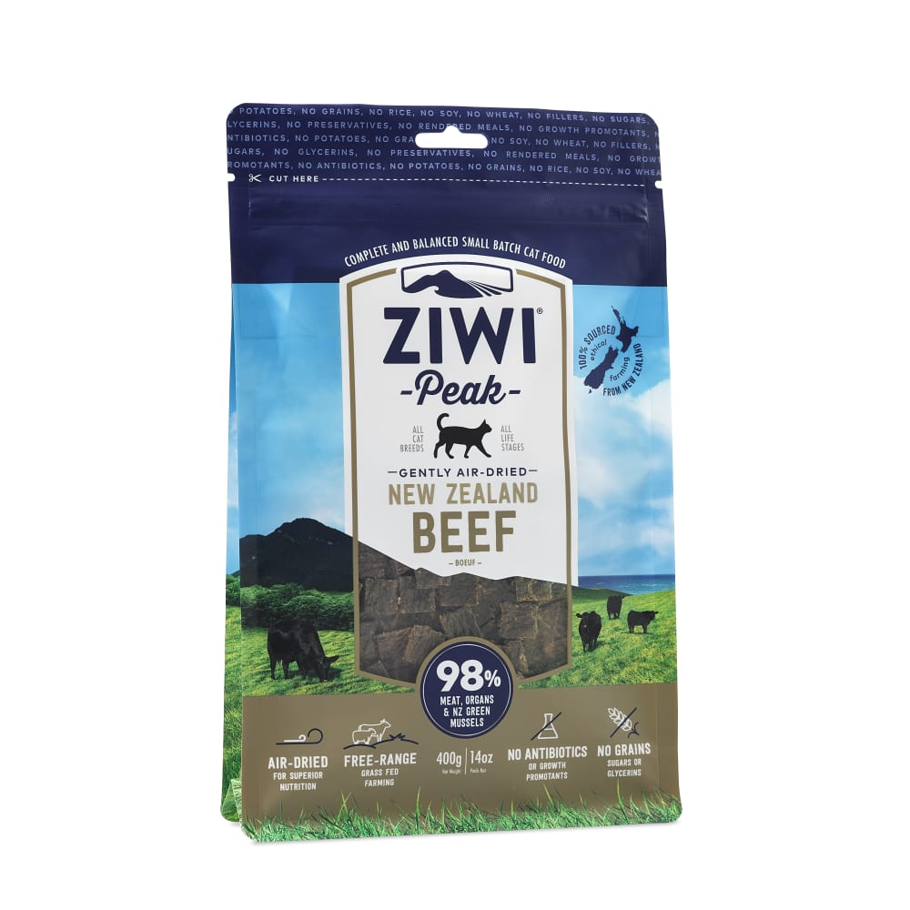 Ziwi Peak - New Zealand Air-Dried Beef Cat Food, 14oz