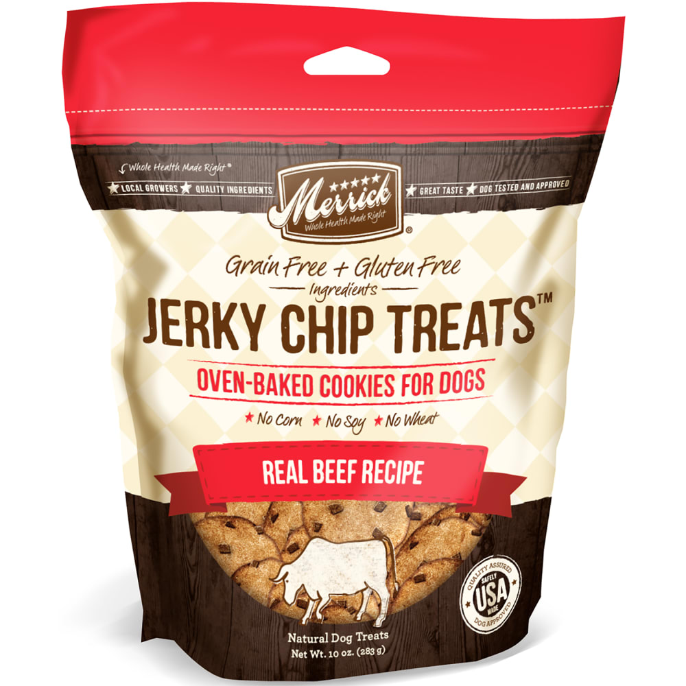 Merrick - Jerky Chip Treats - Real Beef Recipe, 10oz