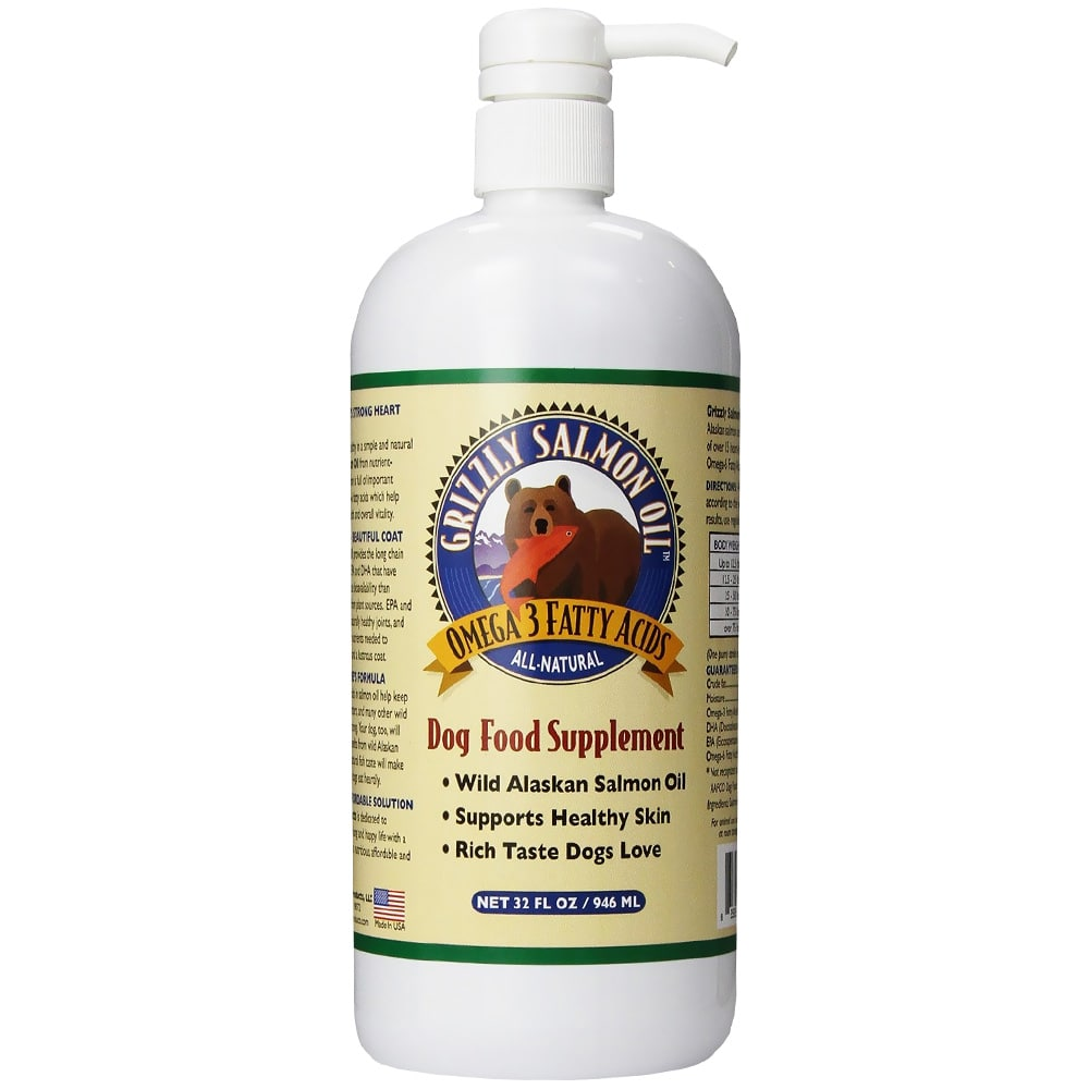 Grizzly Pet Products - Salmon Oil Dog Food Supplement