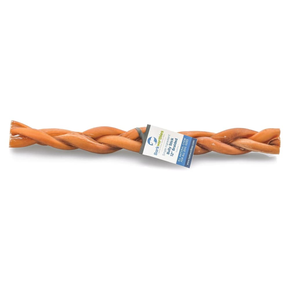 Barkworthies - Bully Stick Braided 12""