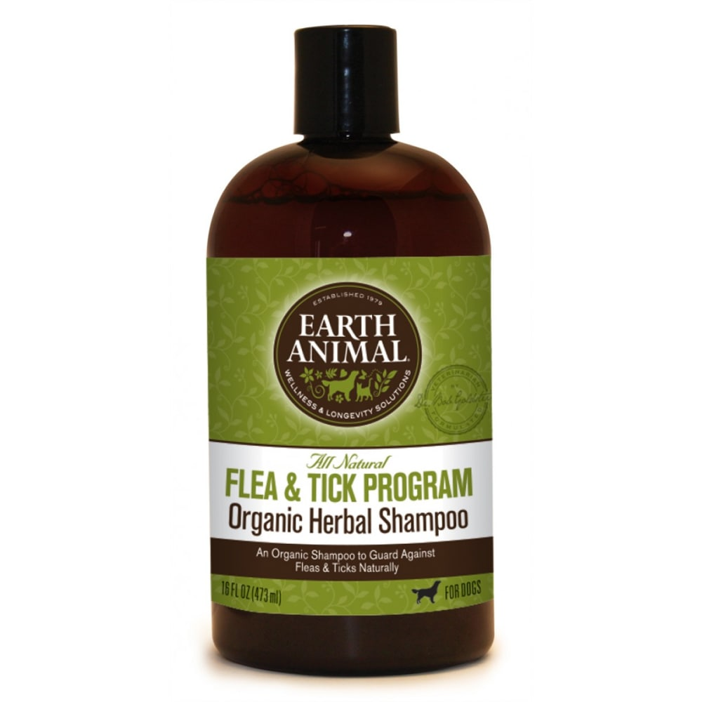 Earth Animal - Flea & Tick Organic Herbal Shampoo, 12oz