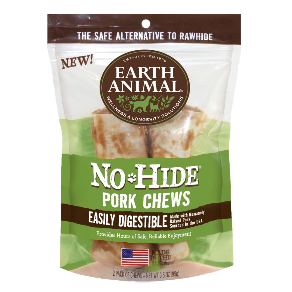 Earth Animal - No Hide Pork Chew 2 Pack