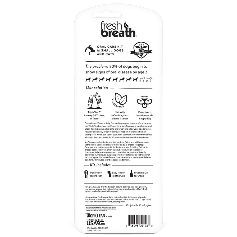 Tropiclean - Fresh Breath Oral Care Kit For Small Dogs