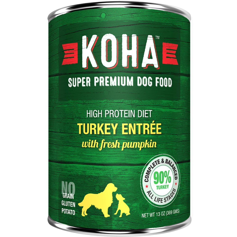 Koha - High Protein Limited Ingredient Diet Turkey Entree Canned Dog Food, 13oz
