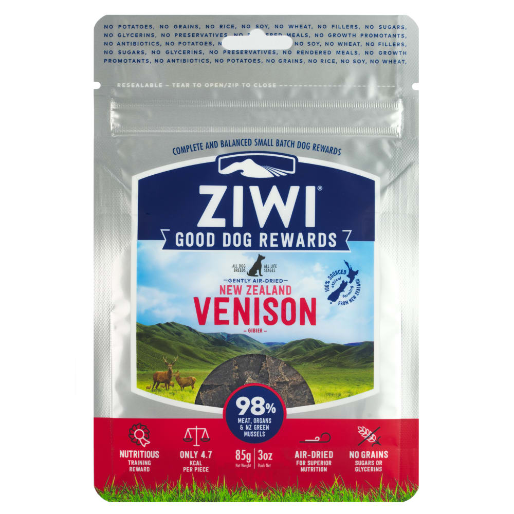 Ziwi Peak - Good Dog Rewards Air-Dried Venison Dog Treats, 3oz