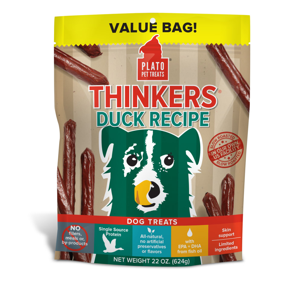 Plato - Thinkers Duck Stick Dog Treats, 22oz