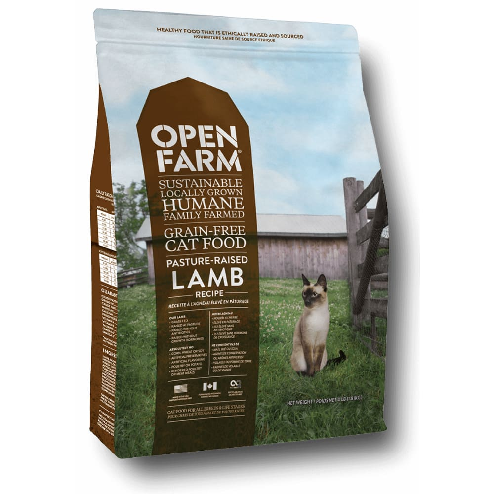Open Farm - Pasture Raised Grain Free Lamb Recipe Dry Cat Food