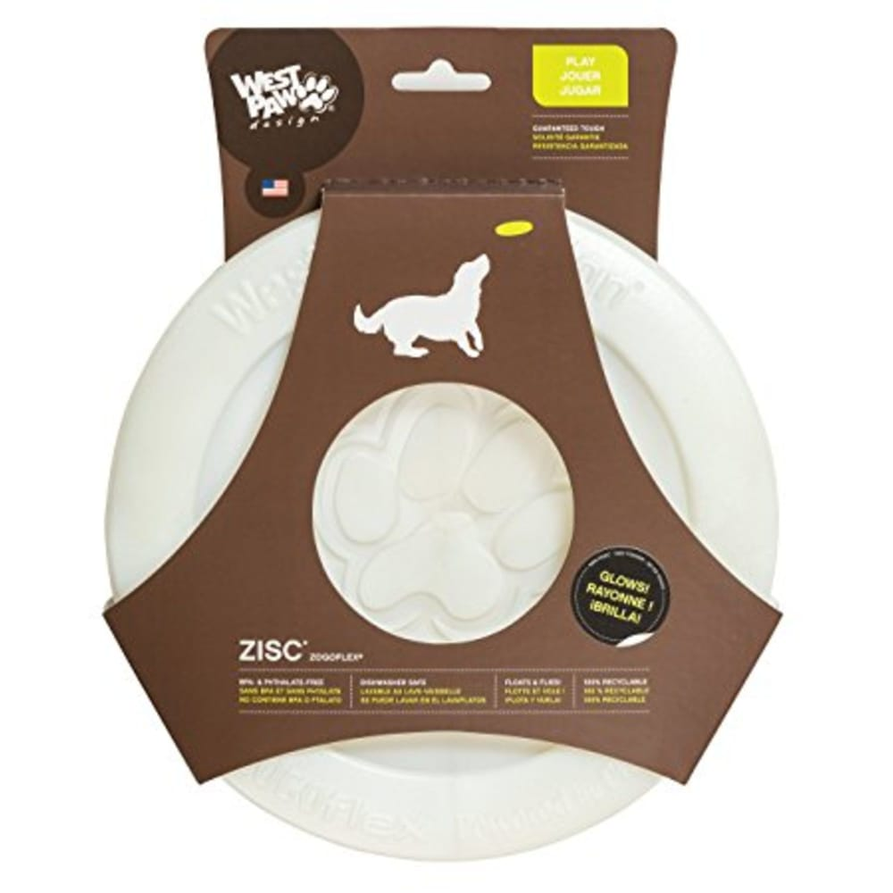 West Paw - ZogoFlex White ZISC Dog Toy