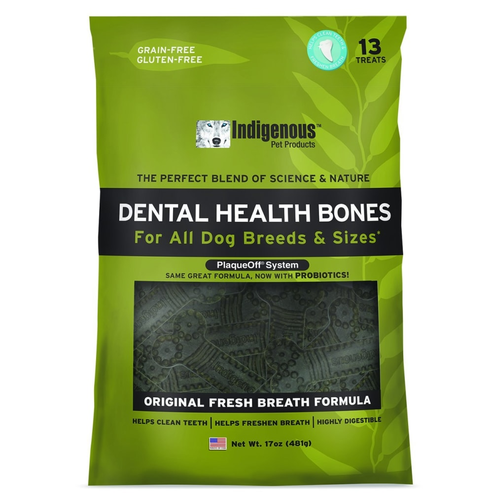 Indigenous - Dental Bone Chew Original Fresh Breath Formula, 17oz