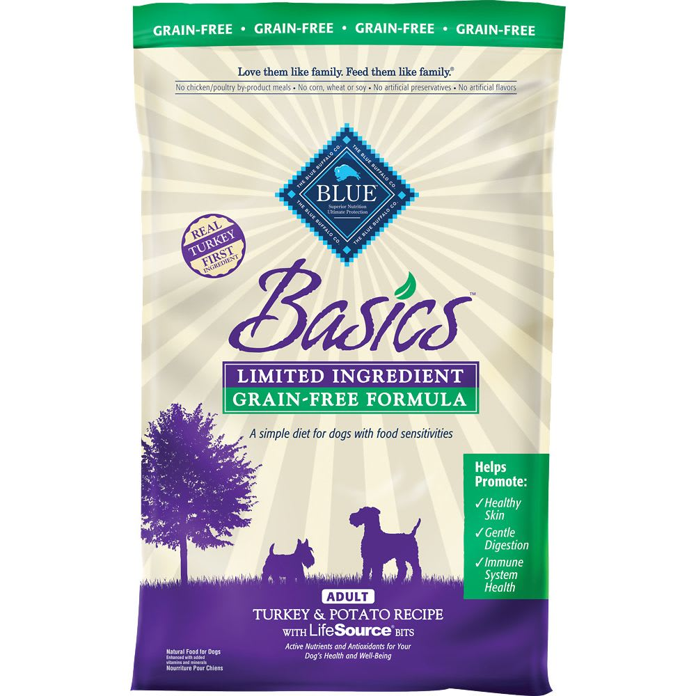 Blue Buffalo - Basics Limited Ingredient Turkey & Potato Recipe Grain-Free Dry Dog Food