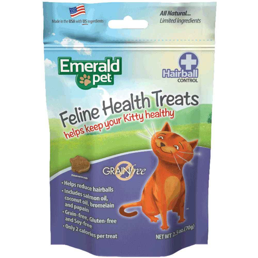 Emerald Pet - Cat Hairball Formula Chicken Treat, 2.5oz