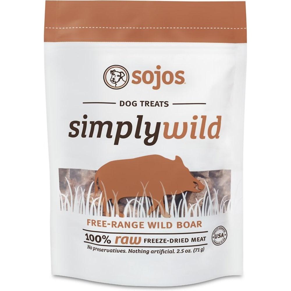 Sojos - Simply Wild Boar Freeze Dried Dog Treat, 2 5oz