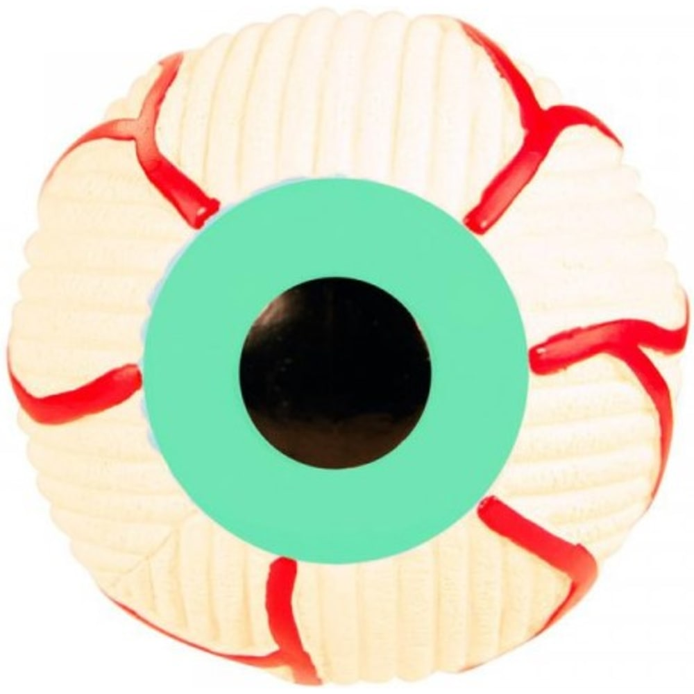 HuggleHounds - Ruff-Tex Eyeball Dog Toy Green, Small