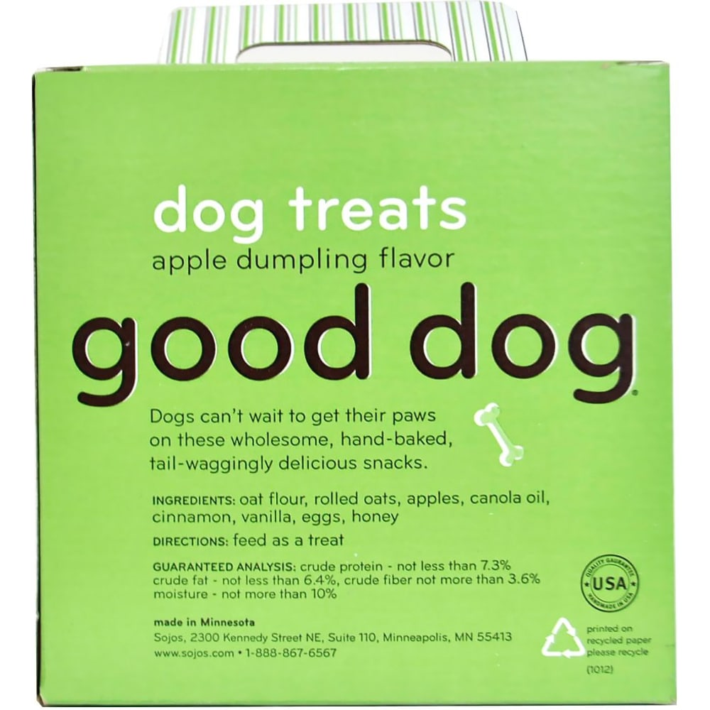 Sojos - Good Dog Apple Dumpling Dog Treats, 8oz
