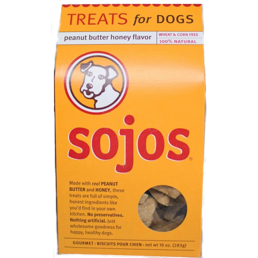 Sojos - Peanut Butter & Honey Dog Treats, 10oz