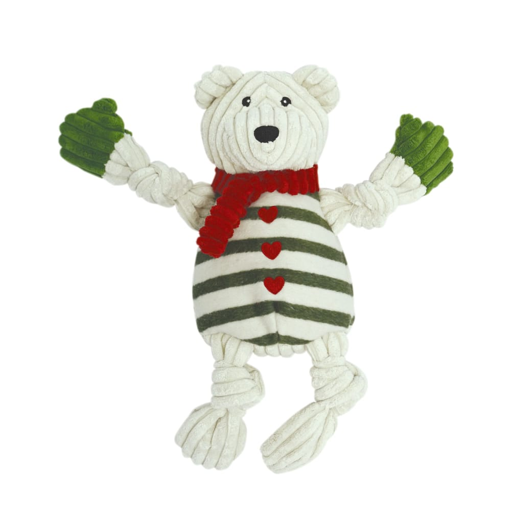 HuggleHounds - Polar Bear With Striped Sweater Knotties