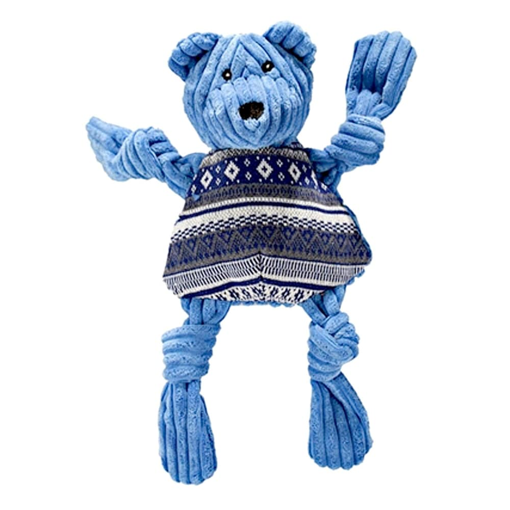 HuggleHounds - Plush Corduroy Durable Hanukkah Bear Knottie, Large