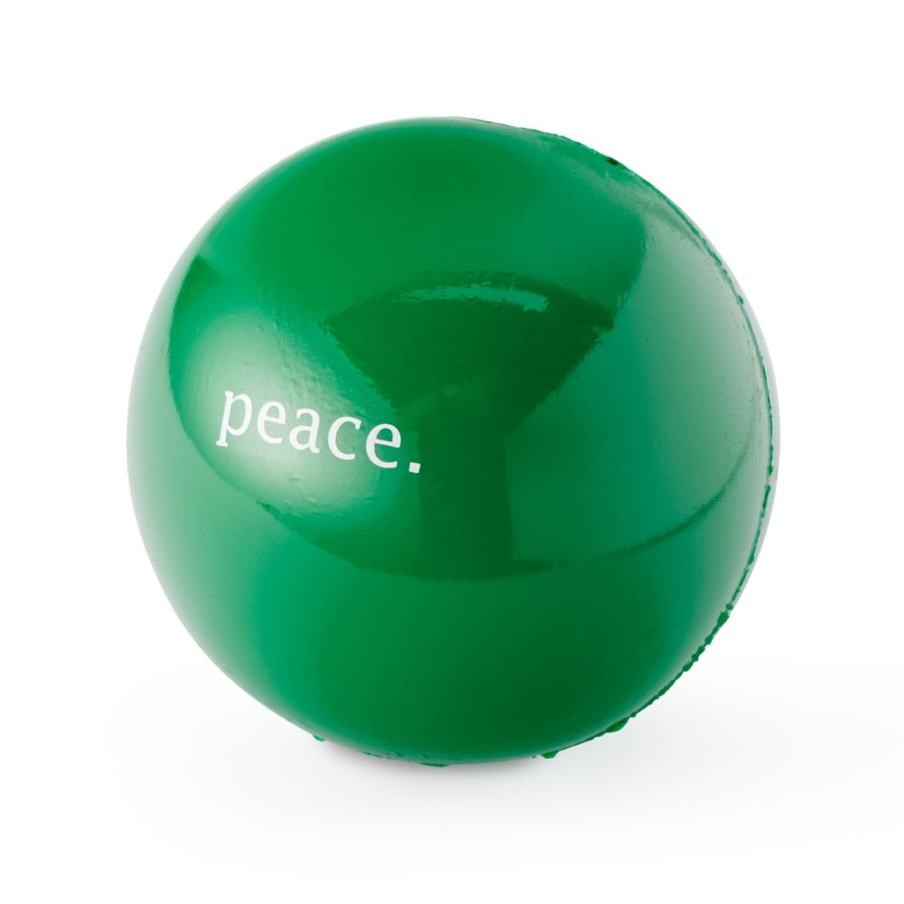 Planet Dog - Orbee-Tuff Peace Ball Dog Toy - Green, 2.5""