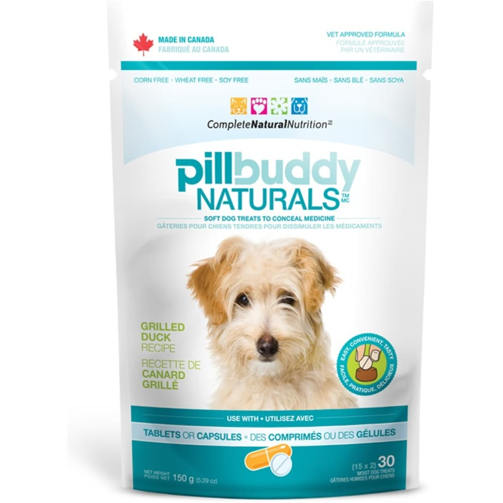 Complete Natural Nutrition - Pill Buddy Naturals Duck Recipe Dog Treat, 30 Treats