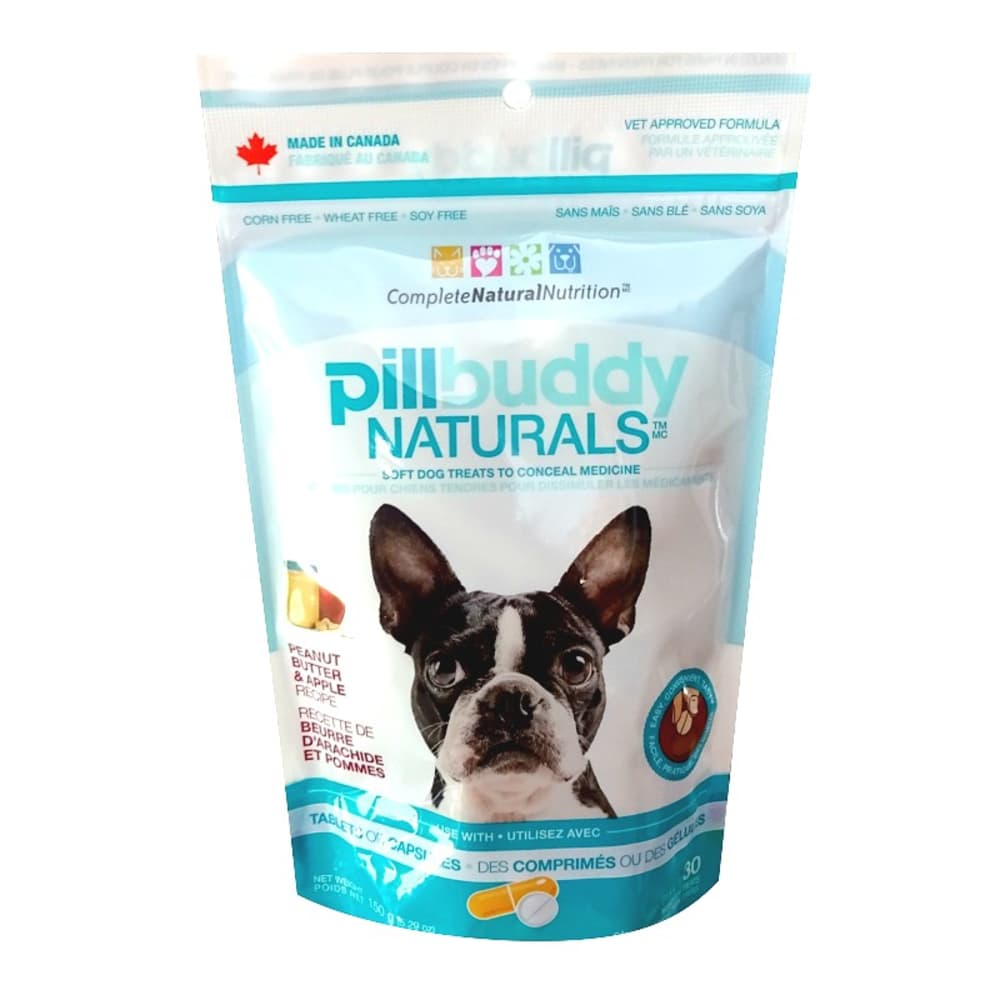 Complete Natural Nutrition - Pill Buddy Naturals Peanut Butter & Apple Recipe Dog Treats, 5.29oz