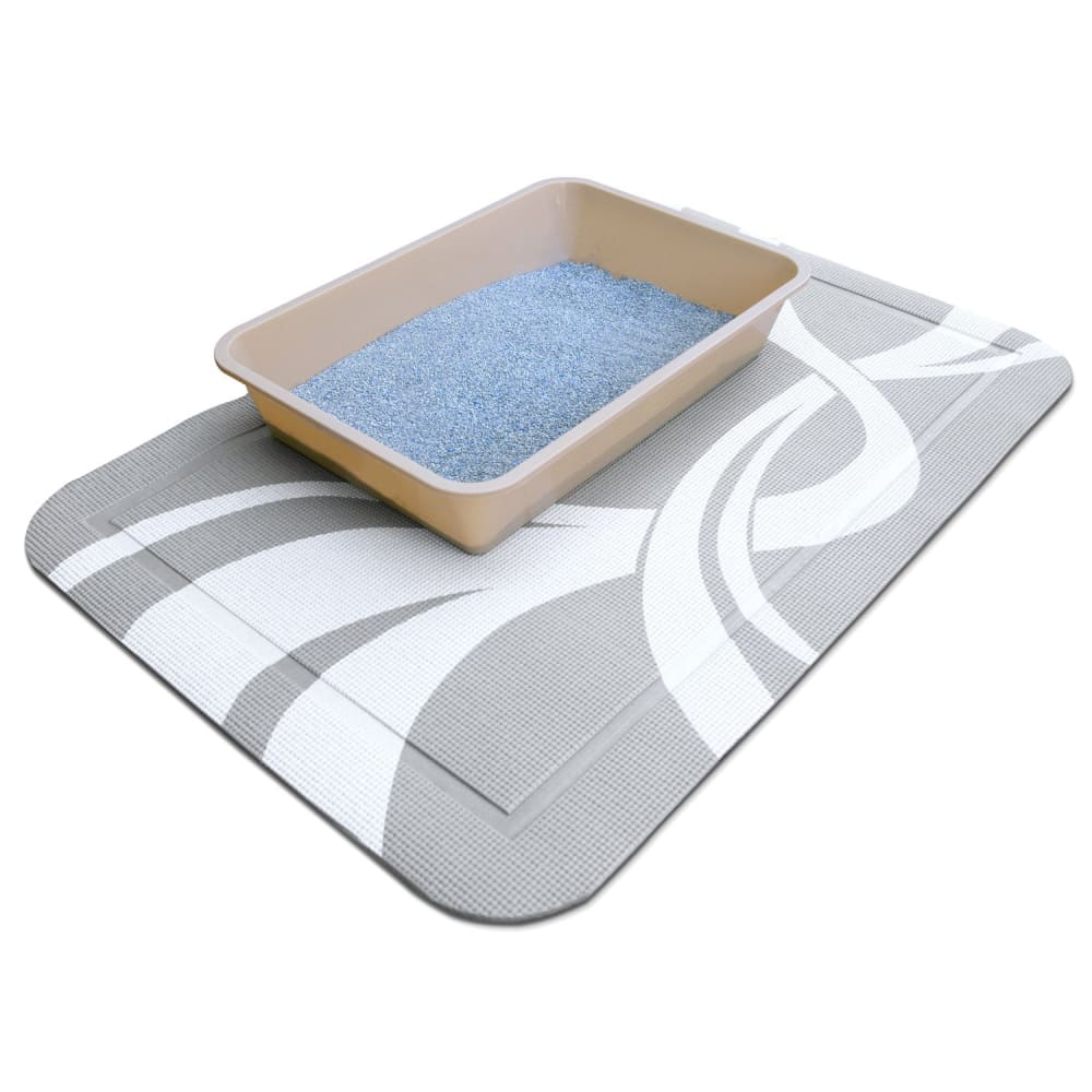 Pet Fusion SmartGrip Cat Litter Mat Gray Twist