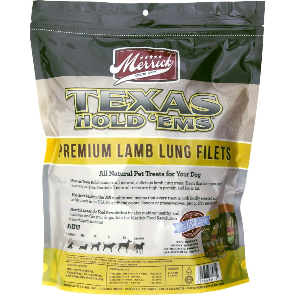 Merrick - Texas Hold 'ems Premium Lamb Lung Filets