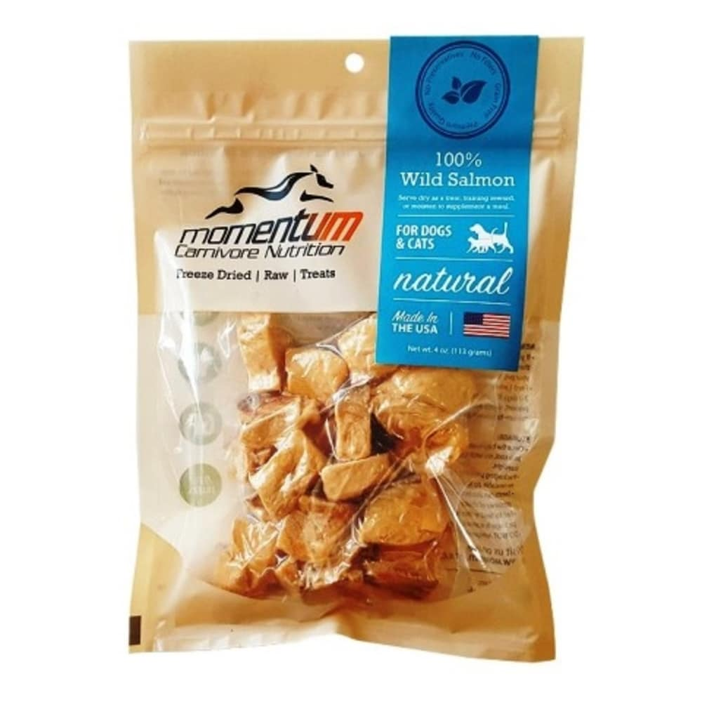 Momentum - 100% Wild Salmon Freeze-Dried Grain-Free Dog & Cat Treats, 4oz