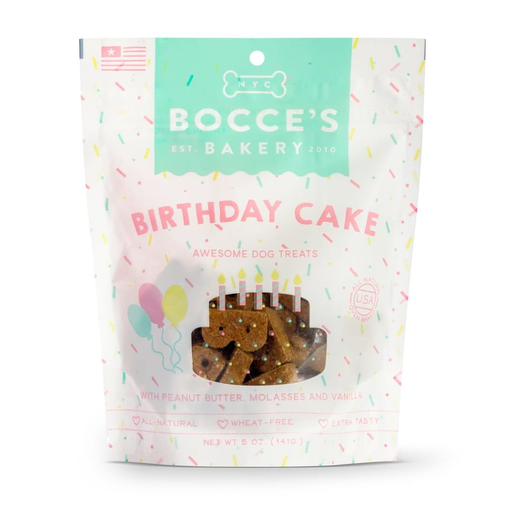 Bocce's Bakery - Birthday Cake Biscuits, 5oz