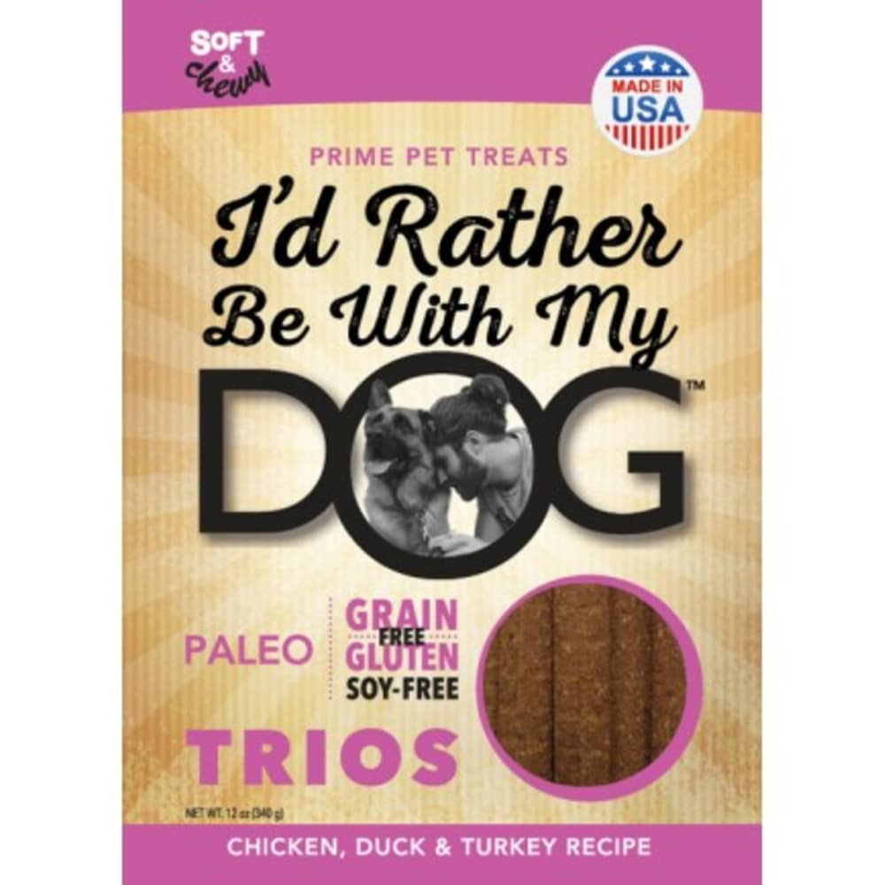 I'd Rather Be With My Dog - Paleo Trios Chicken Duck & Turkey