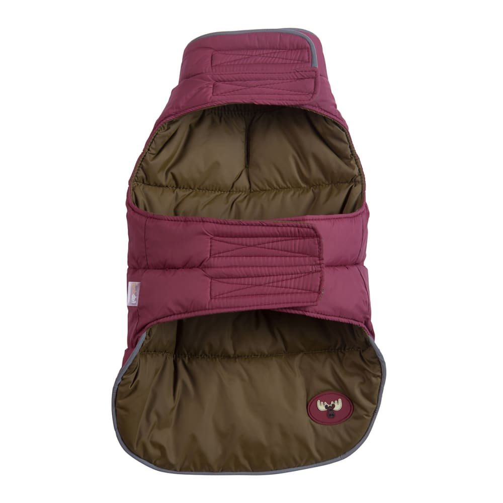 Fab Dog - Reversible Puffer Dog Coat Moose