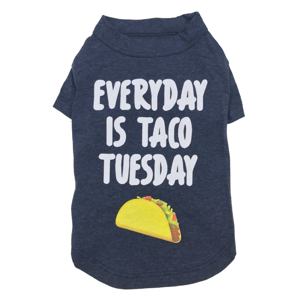 "Fab Dog - ""Everyday Is Taco Tuesday"" Dog T-shirt"