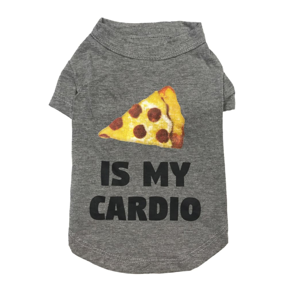 "Fab Dog - ""Pizza Is My Cardio"" Dog T-shirt"