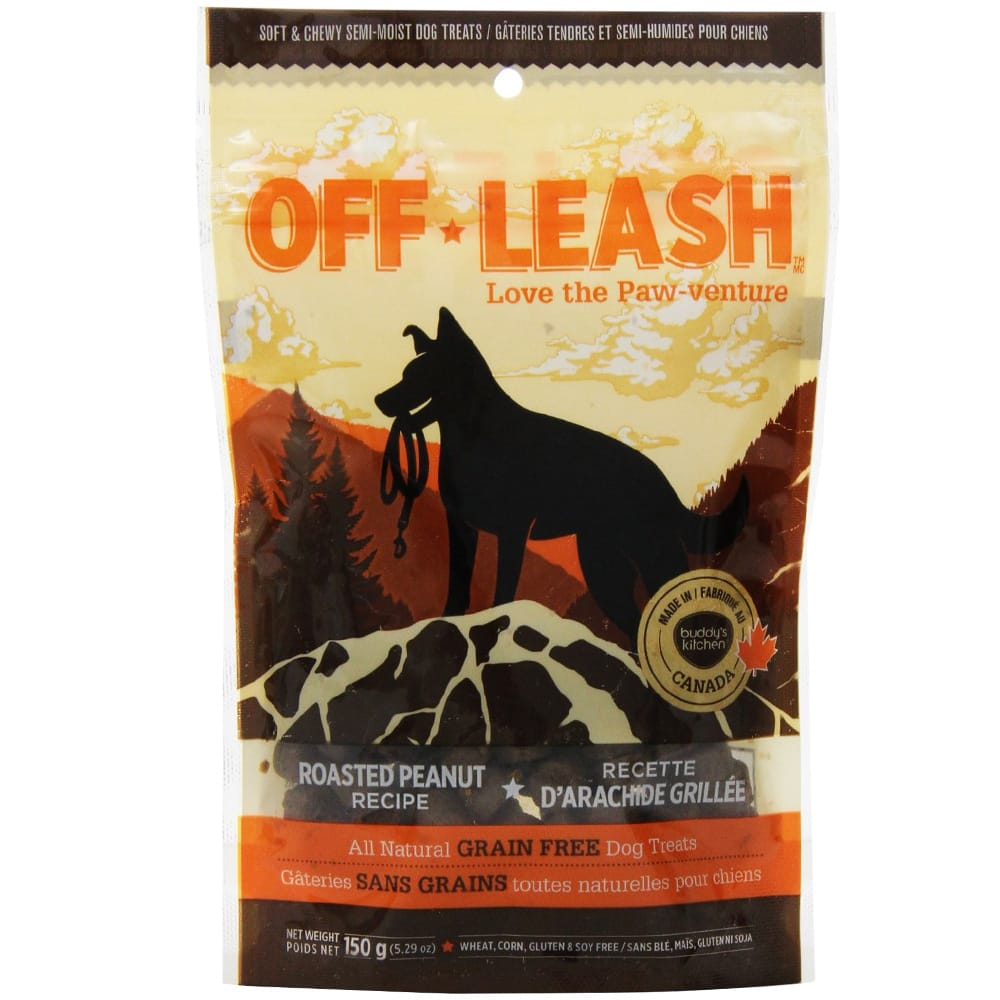 Complete Natural Nutrition - Off Leash Treats, Roasted Peanut, 5.29oz