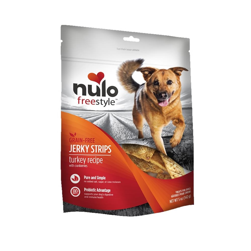 Nulo - FreeStyle Dog Jerky Treat Turkey Cranberry, 5oz