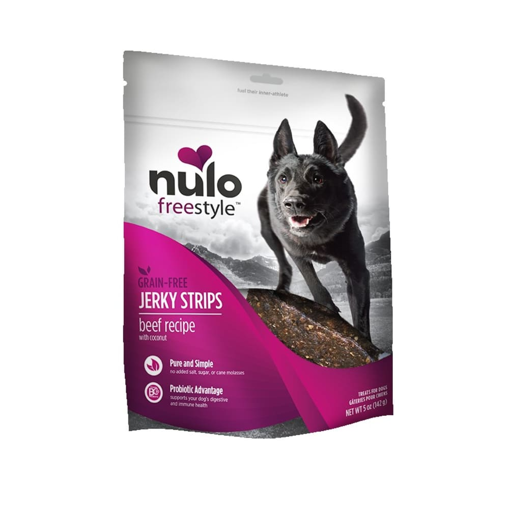 Nulo - FreeStyle Dog Jerky Treat Beef Coconut, 5oz